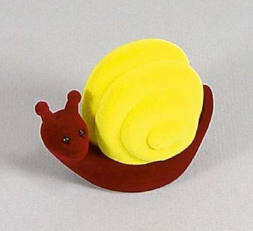 Sametová krabička na šperky - bordó šnek se žlutou