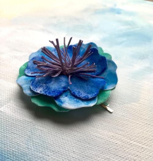 Dekorativní květy -  velká sponka do vlasů