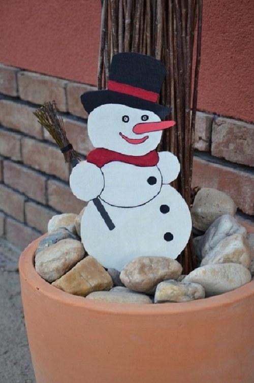 Zimní dekorace - sněhulák