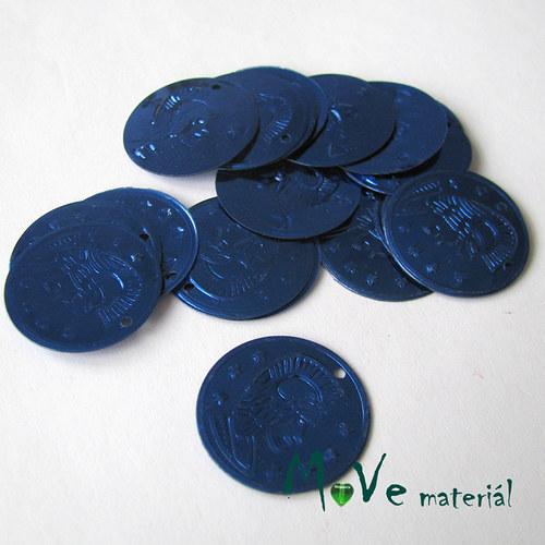 """Plastový penízek \""""Centurion\"""" 18x22mm/20ks, modrý"""