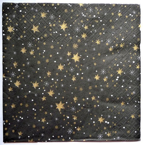 Ubrousek 33x33 - hvězdy