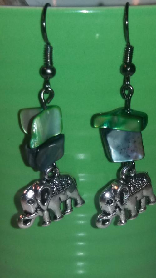 Náušnice sloníci s perletí