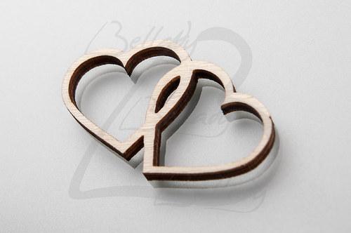 VYR4168, Výrez Double Heart /2ks