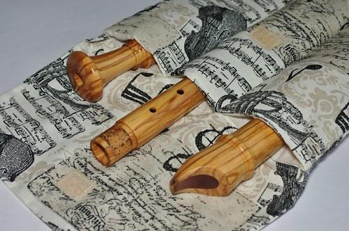 Pouzdro na altovou zobcovou flétnu - notové.