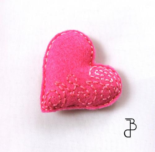 Srdce tmavě růžové