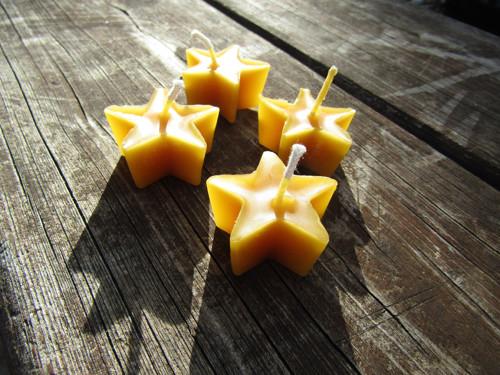 svíčka hvězda-100% včelího vosku