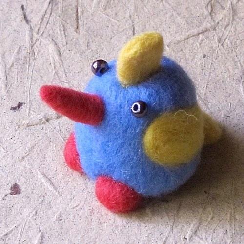 Plstený vtáčik IV.