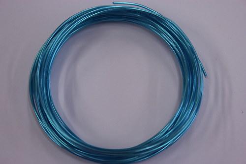 Hliníkový drátek 1,5mm modrý - v návinu 6m