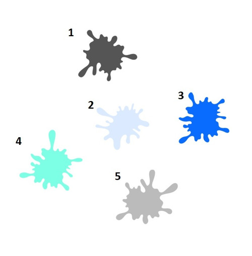 Samolepky kaňky, 38 odstínů na výběr