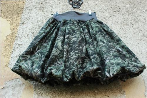Balonová sukně Cannabis Šedozelená