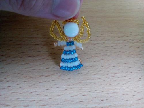 andělíček - modrobílý