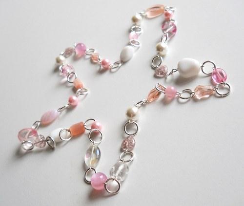 Dlouhý náhrdelník s kroužkama