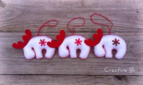 Sobíci v bílém 3.....vánoční sada ( 3 ks )