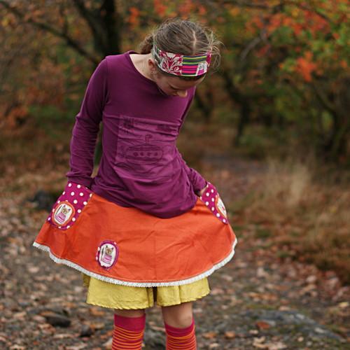 Čarokrásný podzim IV...sukýnka vel. 6-9 let