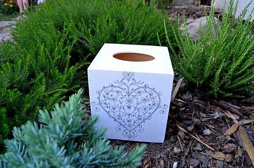 Krabička na kapesníky - srdíčko