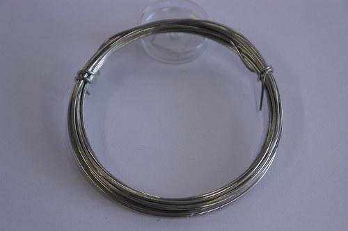 Měděný drátek 1mm - platina, návin 3,8-4m