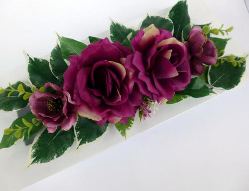 Aranžmá na stůl k věnci Red Wine Roses