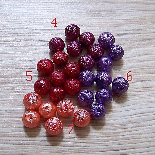 vroubkované voskové perly/ vínová č.4/ 8mm/10ks