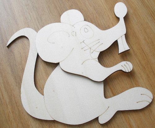 3D myška sedící v.11,5x14cm