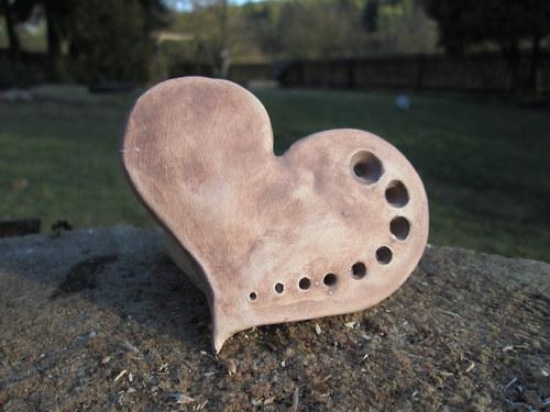 Keramický zápich - srdce 1