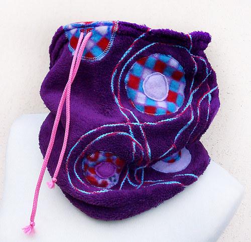 Zachumlánek - fleece nákrčník fialový