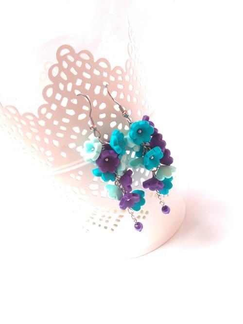 Rozkvetlá louka - náušnice - ocel