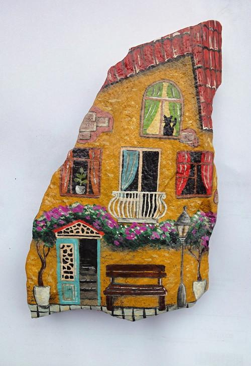 Malovaný kámen - dům