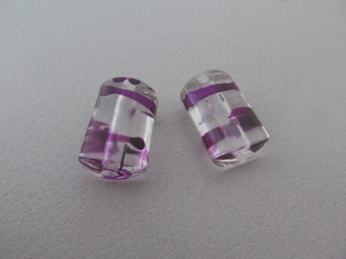 Plastové korálky-váleček-20 x 12 mm - 2 ks/bal.