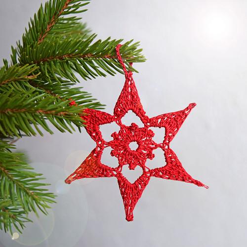 Vánoční hvězdička 11 - červená