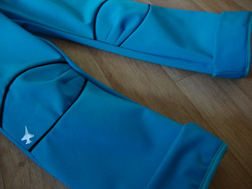Rostoucí softshellové kalhoty tyrkysovo - černé