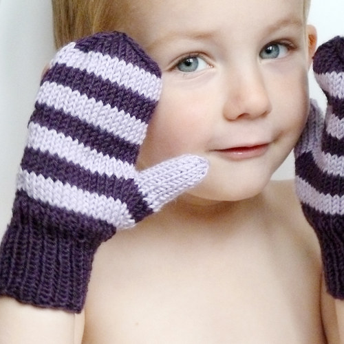 MERINO palčáky fialové