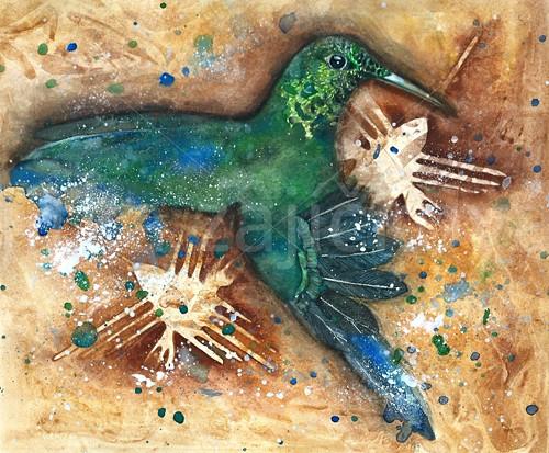 Kolibřík z planiny Nazca