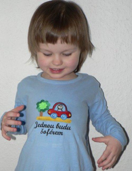 Dětské tričko Jednou budu šoférem