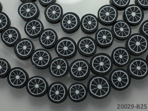 20029-B25 FIMO korálky 10/5 ČERNÉ, bal. 2ks