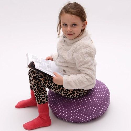 Sedací-meditační polštářek - fialkový