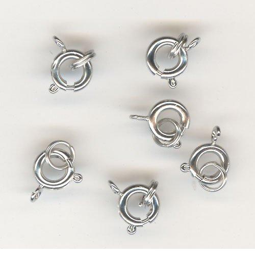 Zapínání pérko-imitace stříbra 6ks