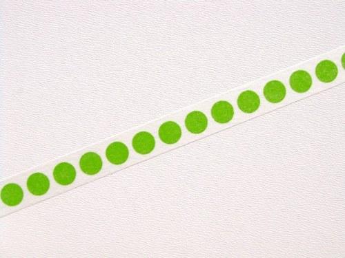 Páska: Zelené puntíky na bílé (1,5 x 33 cm)
