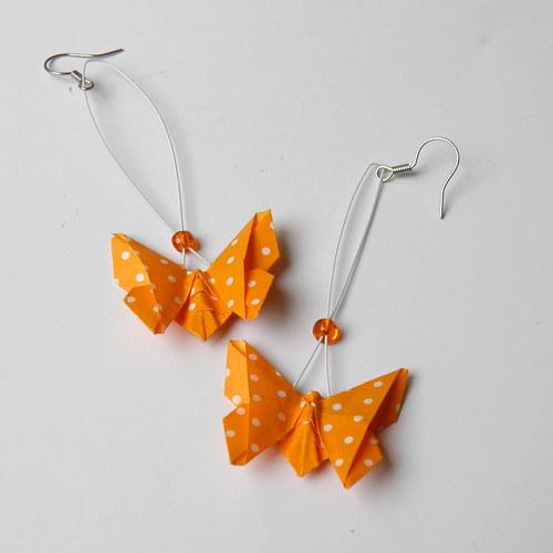 Pomerančoví motýlci - náušnice