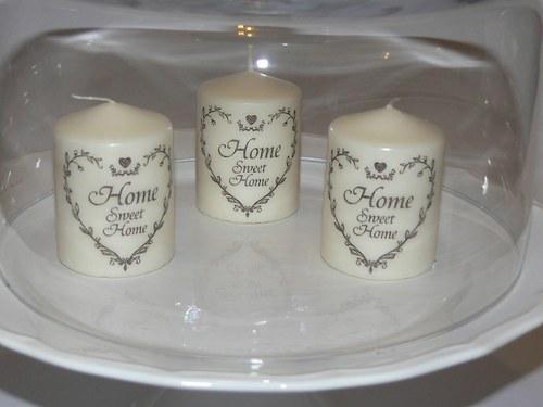 Svíčky -Home Sweet Home