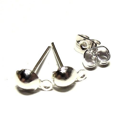 Stříbrné naušnice - 4 páry i s puzetou