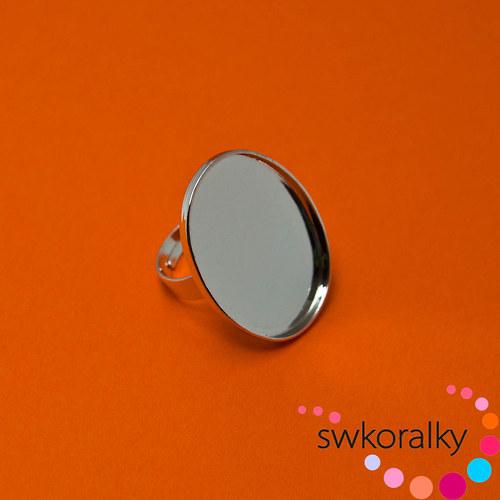 Rhodiované prsteny na PRYSKYŘICI,FIMO 20x30 mm
