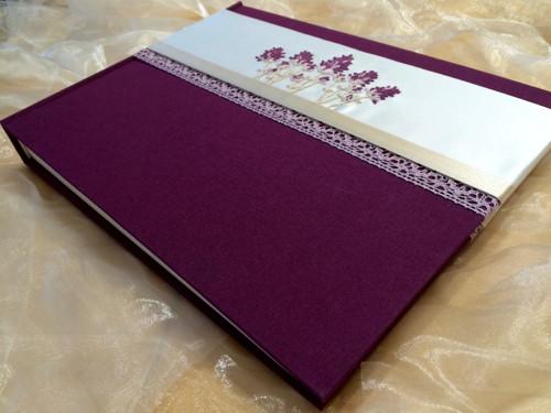 """Svatební fotoalbum  ,, LAVANDE \"""" ve fialovém"""