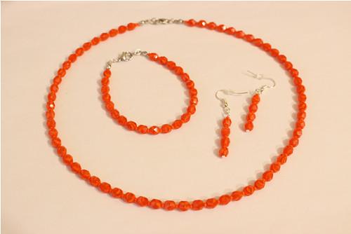 Oranžová žíhaná sada