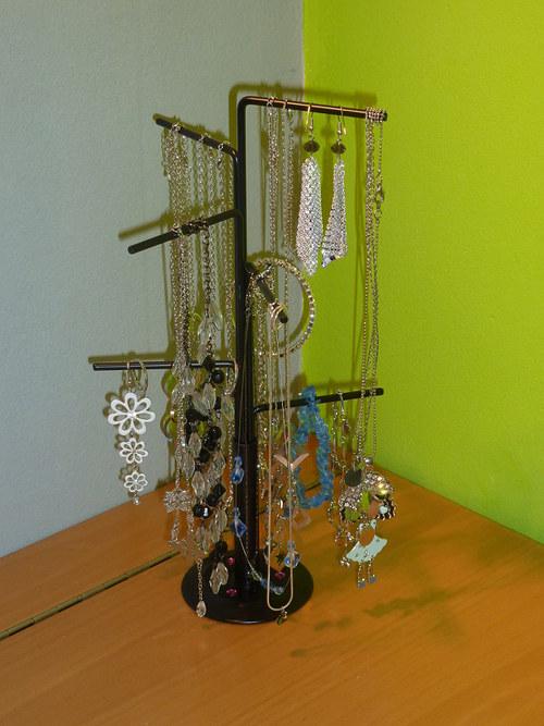 """Stojánek na šperky \""""Strom\"""" s kamínky Swarovski"""