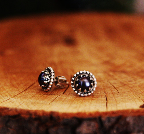 Černá perla puci - stříbro (Ag925, přírodní perla)