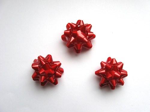 Mašlička - červená 3ks (4cm)