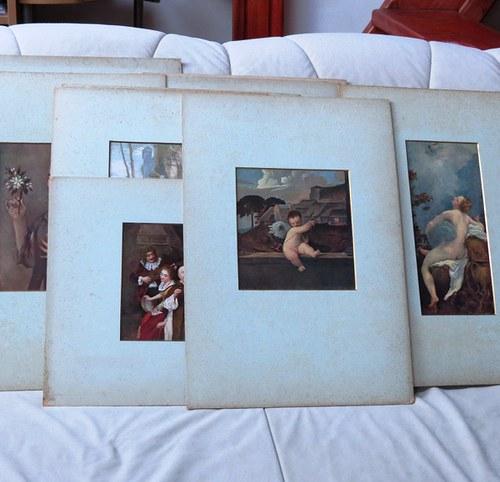 Zbierka starožitných reprodukcií 19 ks