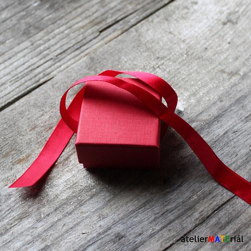 Papírová krabička zavazovací S červená