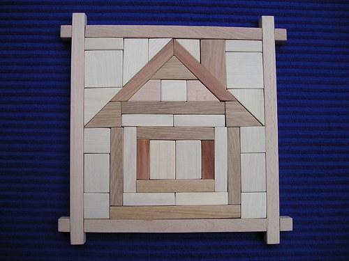 Domek - dřevěná skládačka