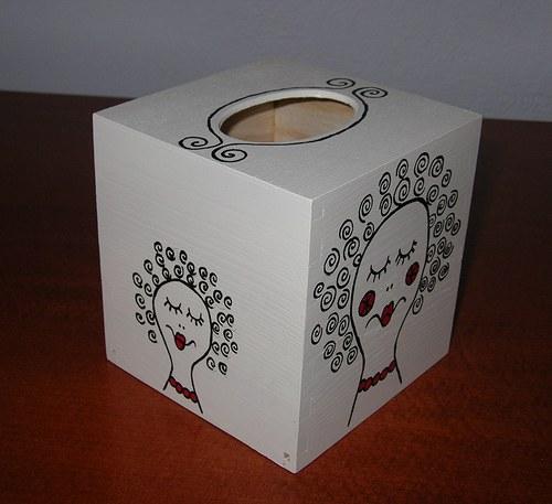 Krabička na kapesníky- parádnice